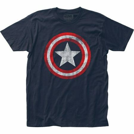 Captain America Distressed Shield Logo Marvel Comics Licensed Adult