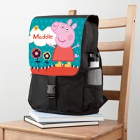 Personalized Peppa Pig Lovely Garden Front Flap Backpack