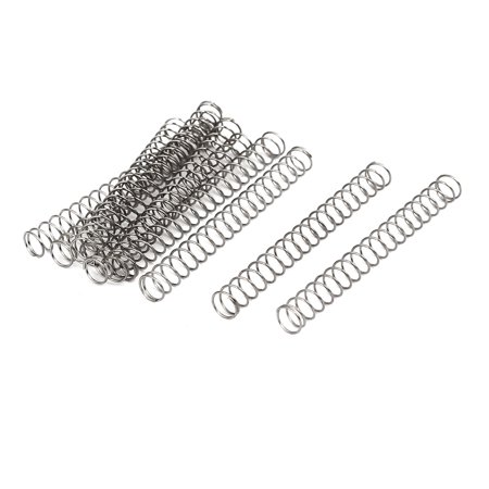 0.4mmx5mmx45mm 304 Stainless Steel Compression Springs Silver Tone 10pcs - image 3 of 3