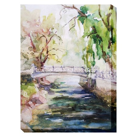 West Of The Wind Tranquil Stream Outdoor Wall Art