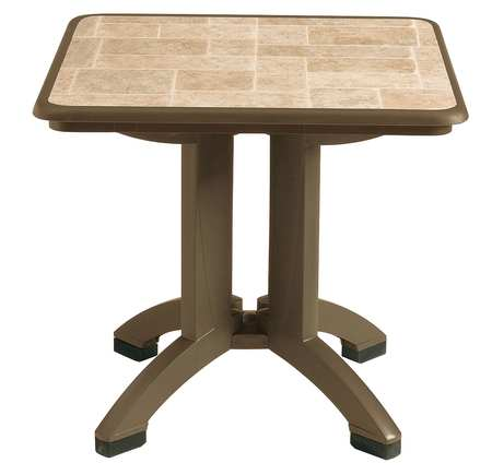 """Grosfillex Siena Outdoor Folding Table, 32"""" Square"""