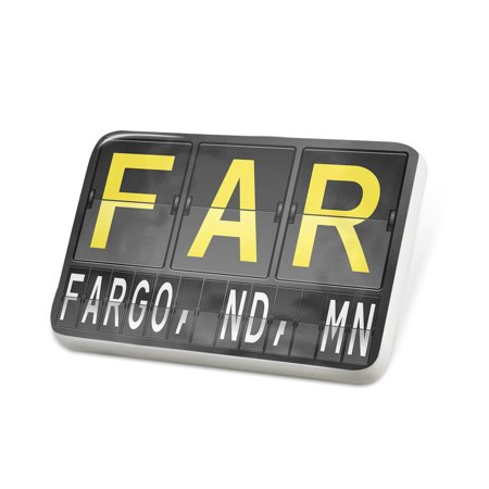 Porcelein Pin FAR Airport Code for Fargo, ND, MN Lapel Badge – NEONBLOND (Fargo Nd Time Zone)
