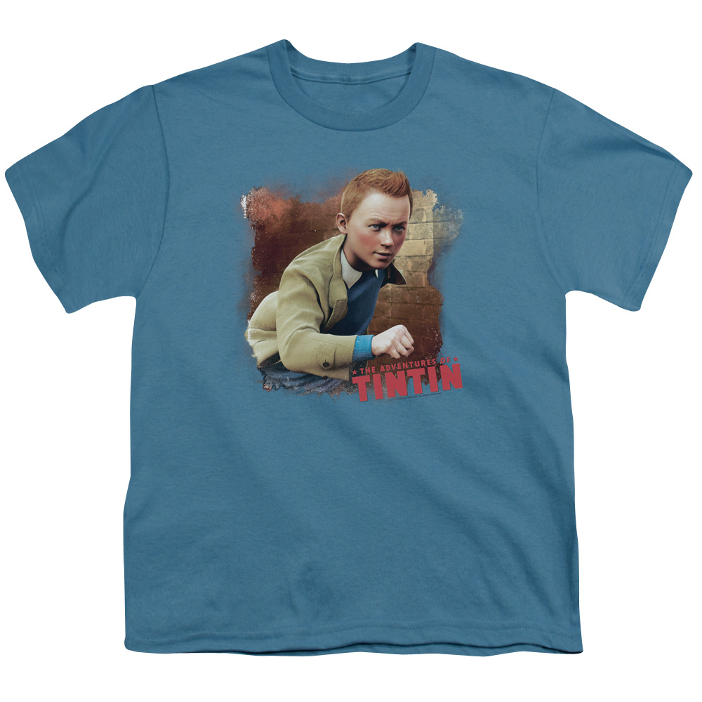 Tintin Title Big Boys Youth Shirt