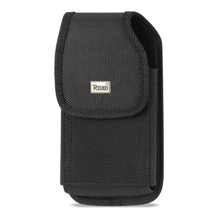 VERTICAL RUGGED POUCH SAMSUNG GALAXY S4 WITH METAL BELT CLIP BLACK ( 5.78x3.15x0.71 INCHES PLUS)