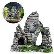 Aquarium Rock Mountain View Ornament Cave Tree Bridge Decor Fish Tank Decoration