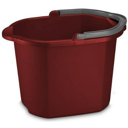 Sterilite 11215806 16 Quart/15 Liter Dual Spout Pail, Classic Red, 6-Pack