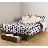 "South Shore Primo Full/Queen Platform Bed (54/60"") with Drawer, Multiple Finishes"