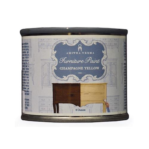 AMITHA VERMA - Transform Furniture Paint, Chalk Finish, Champagne Yellow, 4-oz.