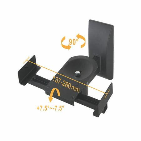PrimeCables® Swivel Speaker Mount,Side Clamp Type Tilt ,Black, Set of 2 - image 2 of 5