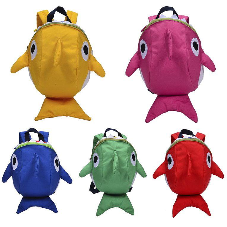 Lovely Cartoon Fish Shape Cute Children Backpacks Kindergarten School Bag Waterproof Kids Toddler Anti-lost Strap... by