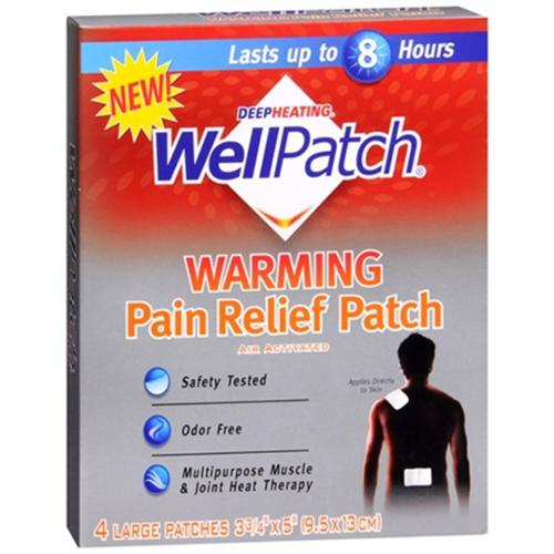WellPatch Warming Pain Relief Patch 4 Each (Pack of 6)