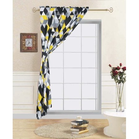 """1-PANEL TRILOGY Kids Bedroom Rod Pocket Window Curtain Treatment, Includes One Panel 60""""in Wide x 84""""in Length with One Matching Tie Back"""