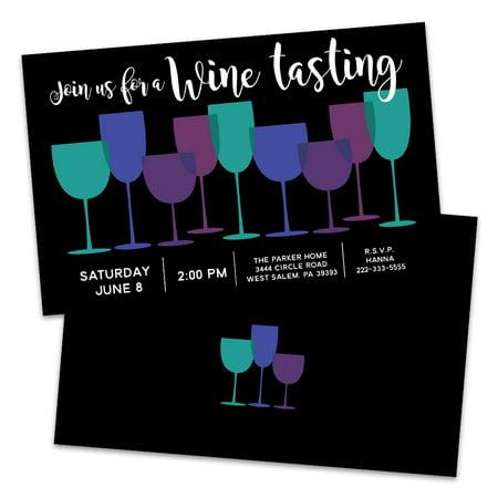 Personalized Wine Glasses Wine Tasting Invitation (Wine Glass Invitations)