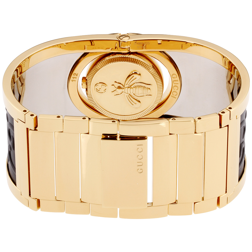 a6c232e09df Gucci - Gucci Twirl Gold Dial Ladies Two Tone Bangle Watch YA112444 -  Walmart.com