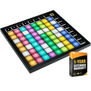 Novation AMS-LAUNCHPAD-X Launchpad X 64-Pad MIDI Grid Controller for Ableton Live with 64 Large RGB Pads Bundle with 1 Year Extended Warranty