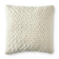 """Better Homes & Gardens Rosette Plush Decorative Toss Pillow, 22"""", Ivory"""