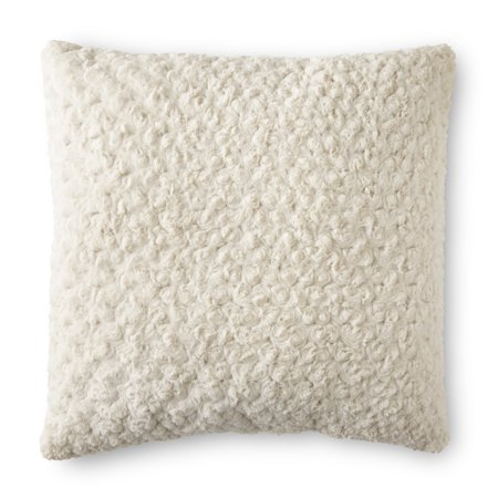 Better Homes & Gardens Rosette Plush Decorative Toss Pillow, 22
