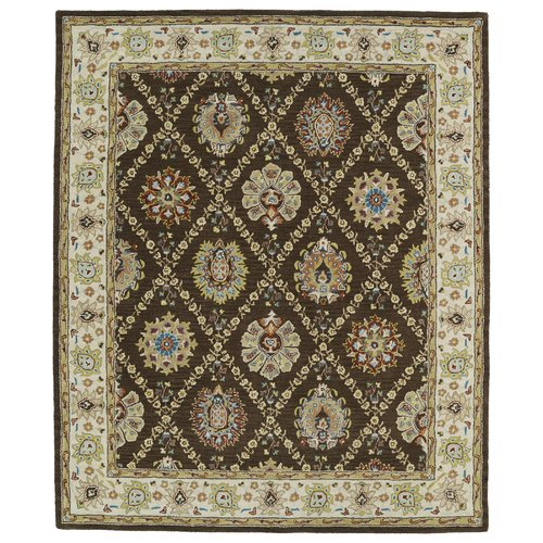 Astoria Grand Barkell Hand-Tufted Wool Brown Area Rug