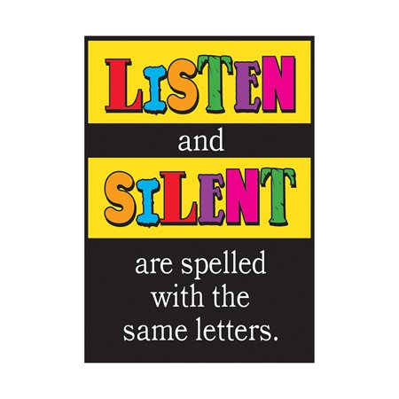 POSTER LISTEN AND SILENT ARE