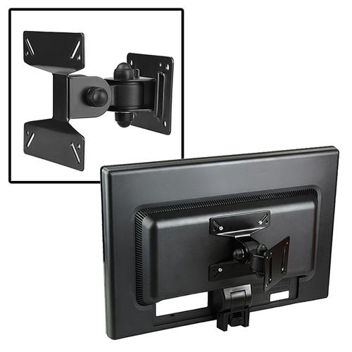 "Insten Wall Mount Bracket For Flat Panel LCD / Plasma TV [B01], Max 33lbs, 10"" - 24"", Black (with Tilt and Swivel Angle)"