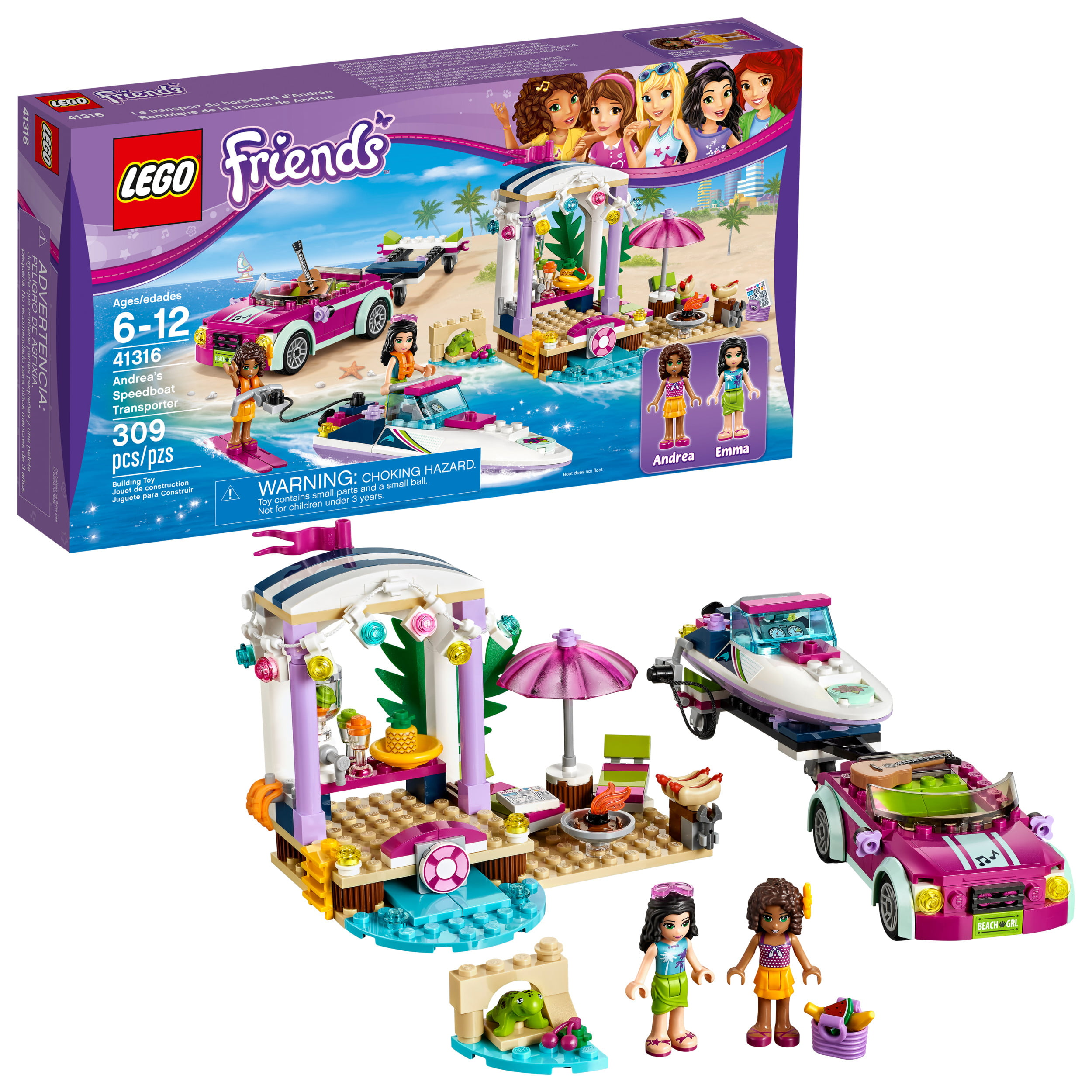 Lego Friends Andreas Speedboat Transporter 41316 309 Pieces