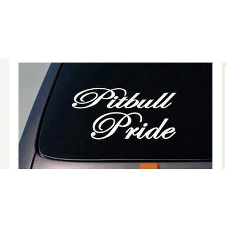 Pitbull Pride American Bully APBT Sticker Decal pit bull rescue k9 *A058*