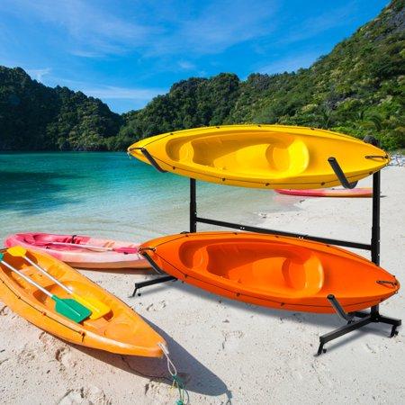 Costway Heavy Duty Freestanding Kayak Rack Dual Storage Rack For Sup Height Adjustable Walmart Canada