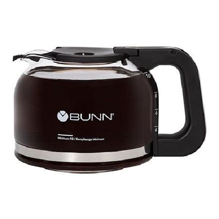 BUNN 10 Cup Drip-Free Carafe, Black, 49715.0200 10 Cup Coffee Carafe