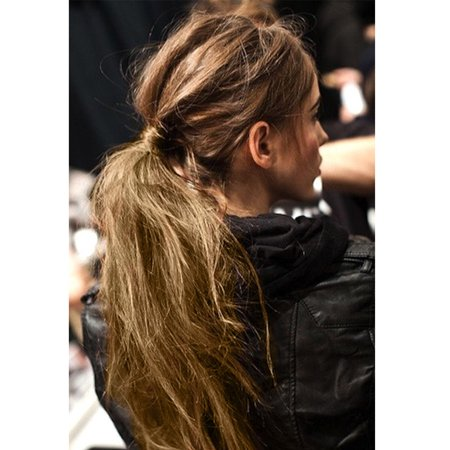 S-noilite Sexy Long Straight Tie up/Wrap Around Ponytail Clip in Hair Extensions 1 pcs Light Ash Brown Mix Bleach Blonde, 23