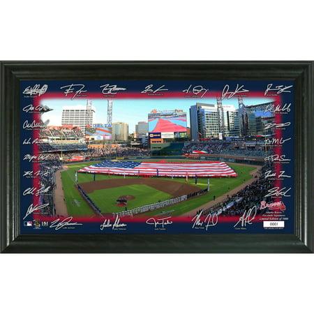 Atlanta Braves Highland Mint 12'' x 20'' Signature Field Photo Frame - No -
