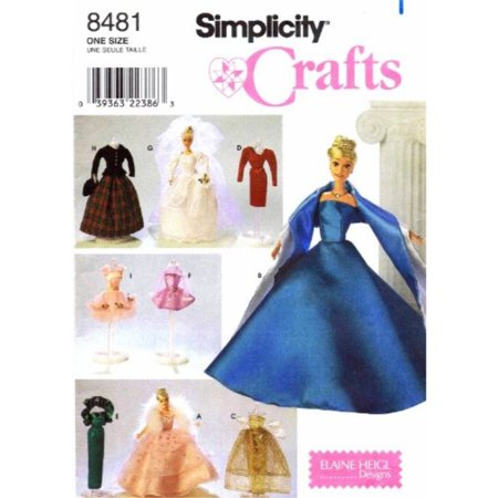 - Simplicity Barbie Doll Clothing Patterns Crafts Sewing 11.5 Dolls 8481