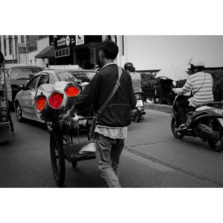 LAMINATED POSTER Thailand Sell Flowers Black And White Street Poster Print 24 x 36 (Does Target Sell Flowers)