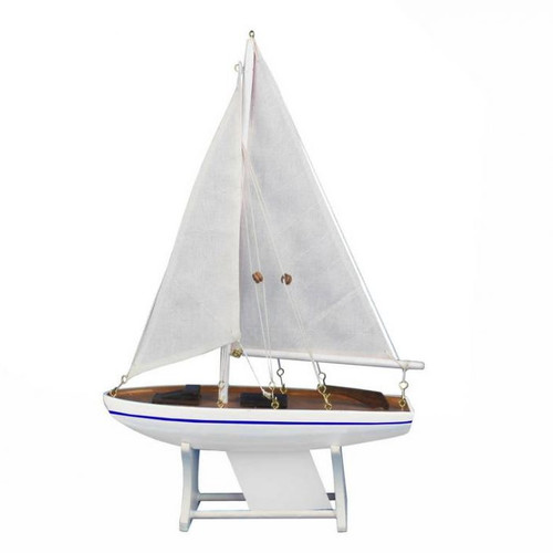 Handcrafted Nautical Decor It Floats Calm Seas Model Sailboat by Handcrafted Nautical Decor
