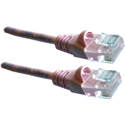 Professional Cable Category 5E Ethernet Network Patch Cable with Molded Snagless Boot, 100', Assorted Colors