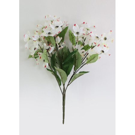 3PK Artificial Dogwood Bush in Cream - 19.5