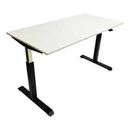 Image of Alera HTPN1B Pneumatic Height Adjustable Table Base - Black