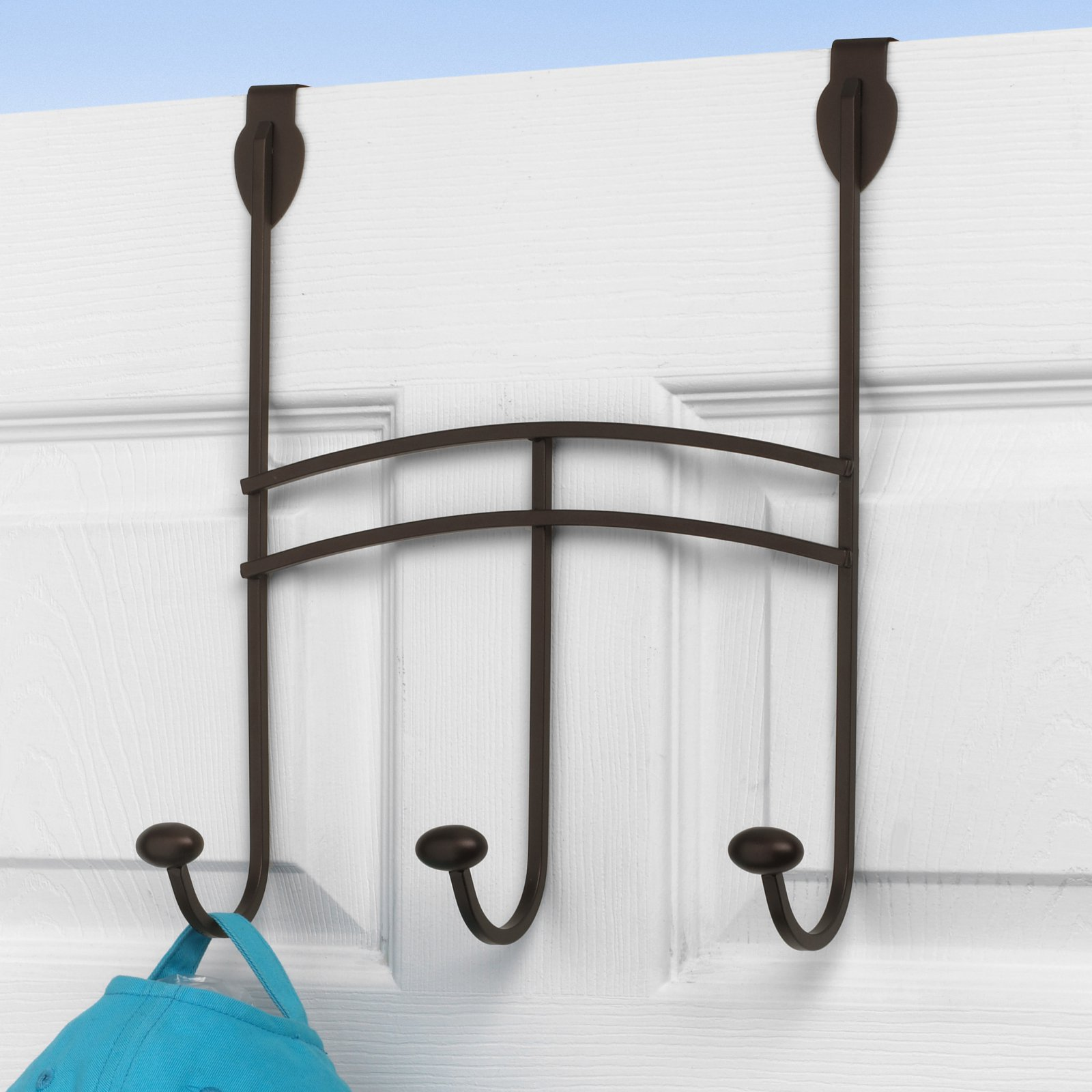 Duchess Over the Door Metal 3-Hook Garment Rack