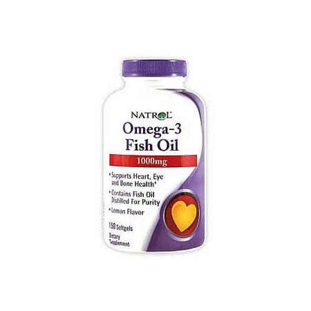 Natrol Omega-3 Fish Oil, Lemon, 150ct (Fish Oil Omega 3)