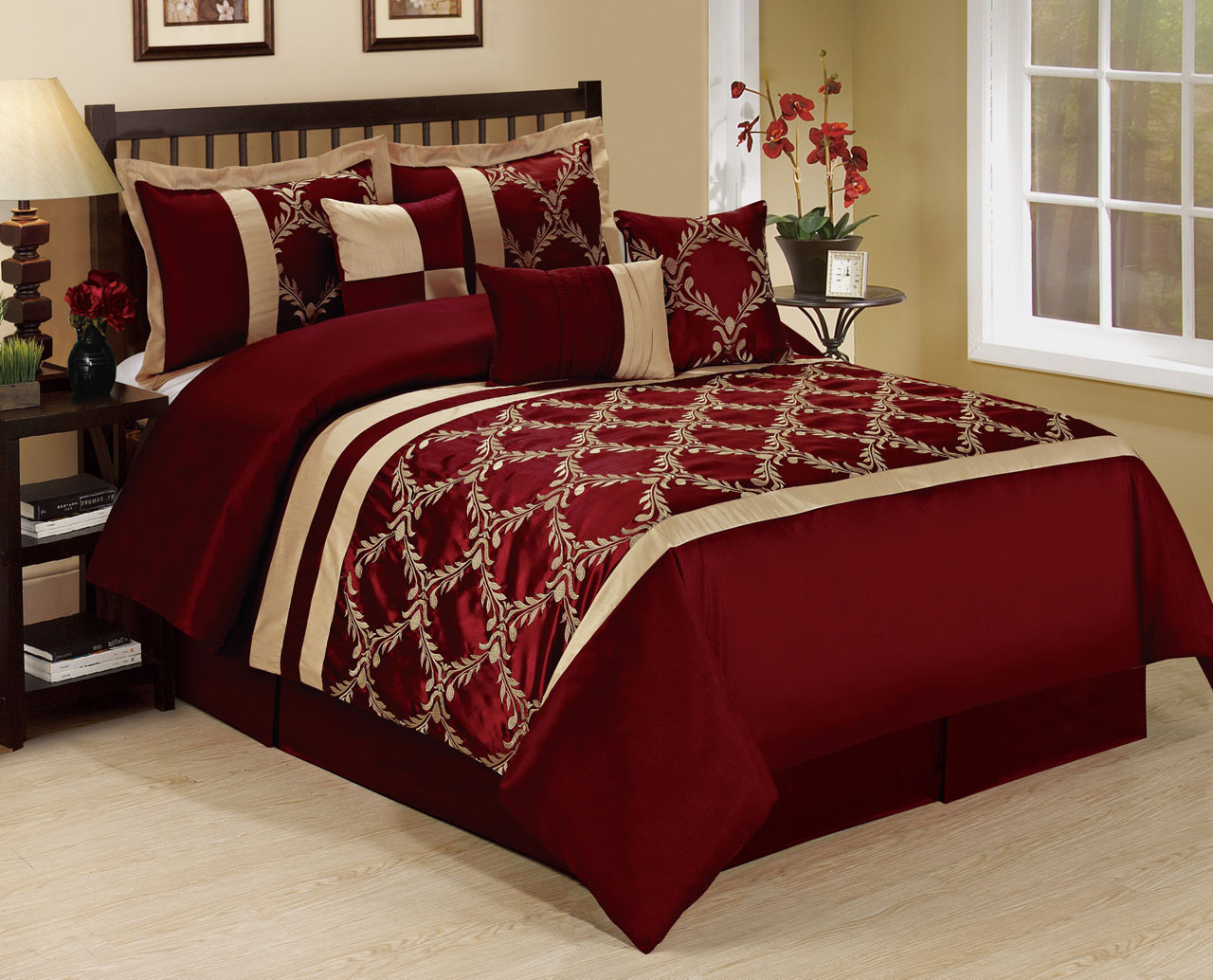 set sets twin modern com piece aruba orange with burnt popular coursecanary queen taupe comforter