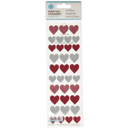 Martha Stewart Crafts Halloween Glitter Heart Stickers - Martha Stewart Halloween