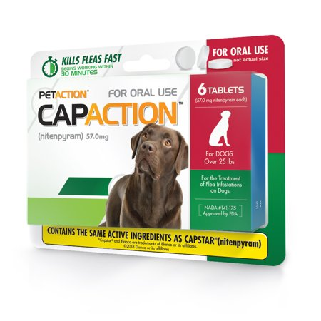 CapAction Fast Acting Flea Treatment for Large Dogs, 6 Tablets (Ugg For Dogs)