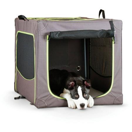 K Pet Products Classy Go Soft Pet Crate, Medium, Brown