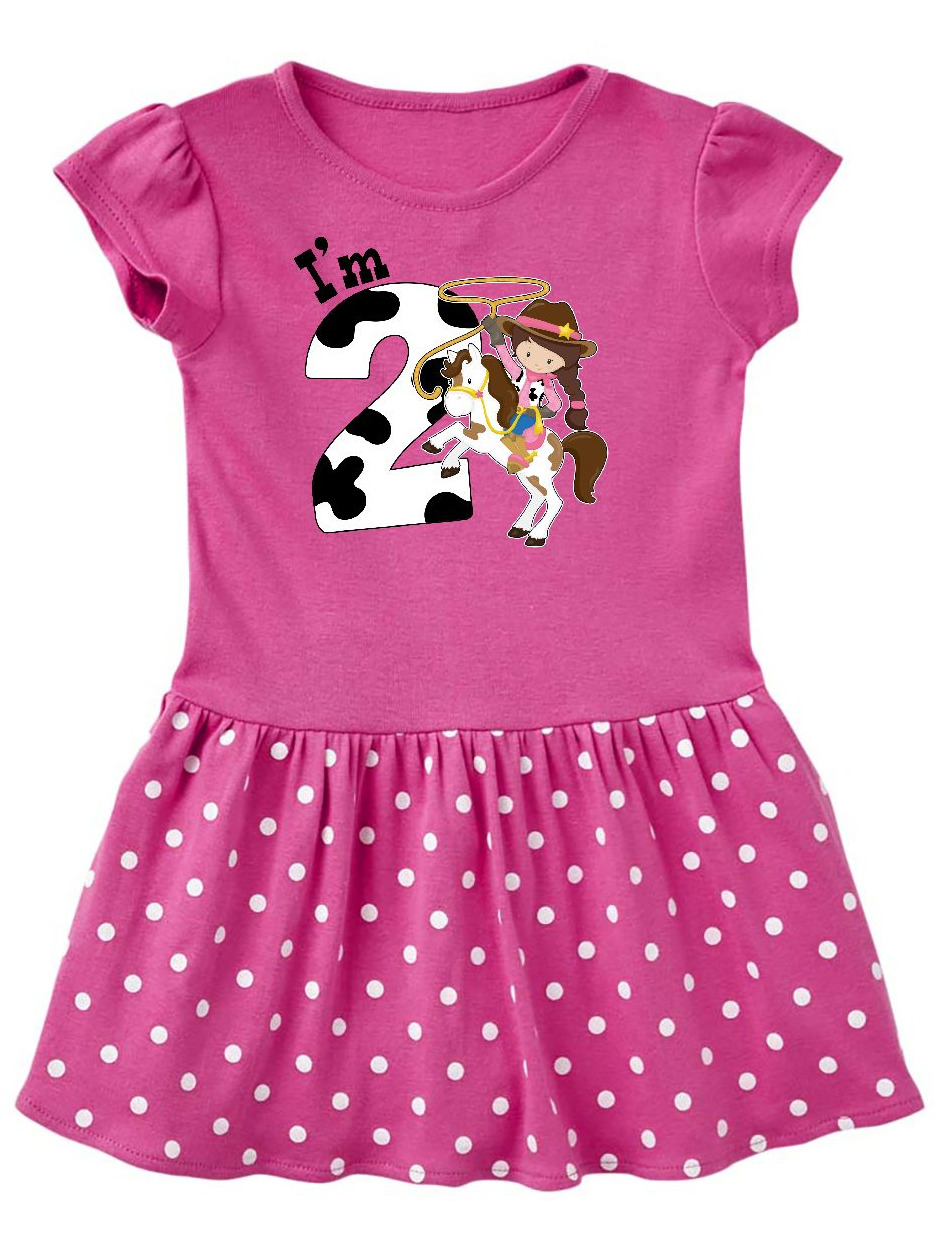 inktastic Im Two-Cowgirl Riding Horse Birthday Toddler T-Shirt