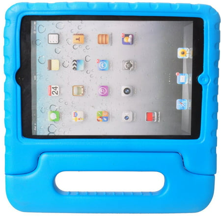 TekDeals iPad 2 3 4 Case for Kids Shock Proof Drop Proof Heavy Duty Foam Case Handle Cover Stand ()