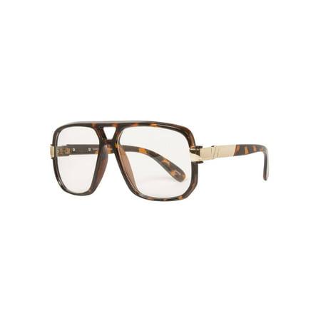 Hip-Hop Fashion Retro Glasses - Tortoise - image 1 de 2