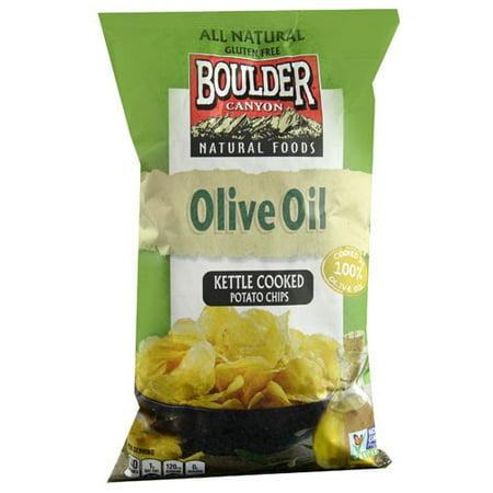 Boulder Canyon Kettle Cooked Potato Chips Olive Oil 6.5 oz - Vegan](No Cook Halloween Snacks)