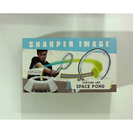 Sharper Image Virtual Toy Ping Pong Game Set, Features Built in Light Up  Ball/Integrated Sound Effects, Keeps Track of Hits, Mis