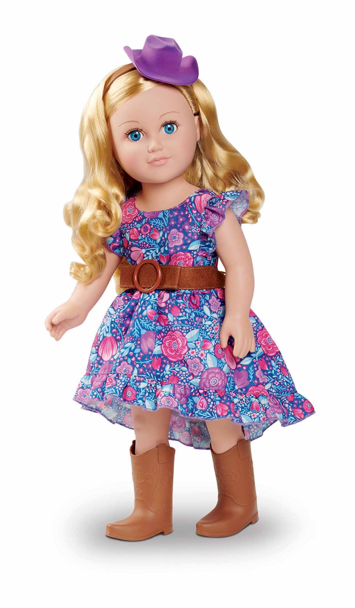 """My Life As 18"""" Poseable Cowgirl Doll, Blonde Hair, Soft Torso"""