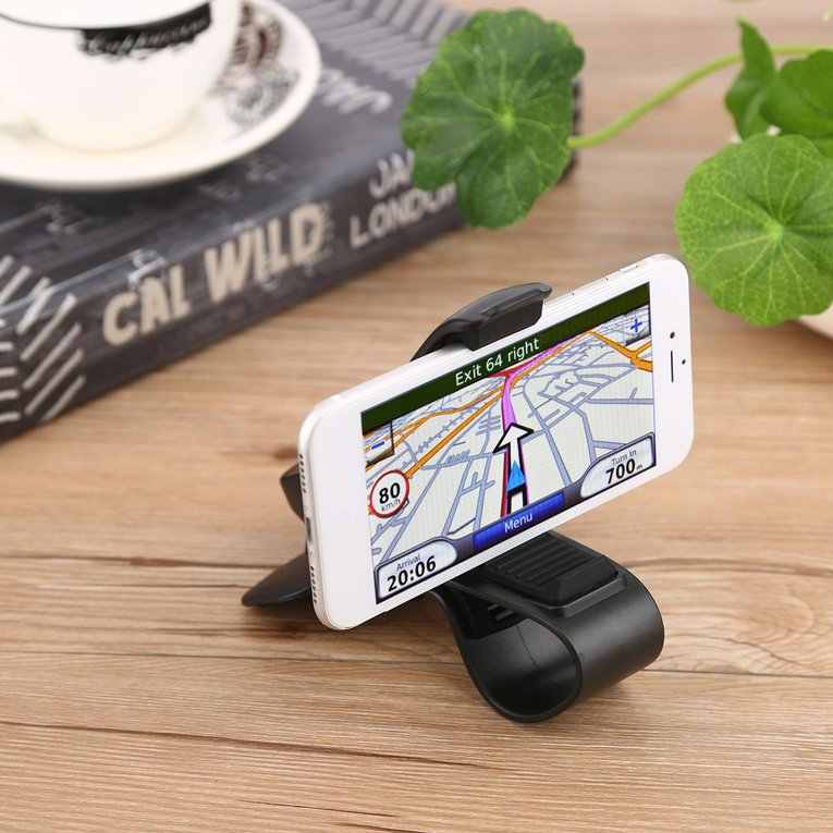 Black Universal Hud Cradle Car Dashboard Mount Holder Stand Clip For Cell Phone Gps