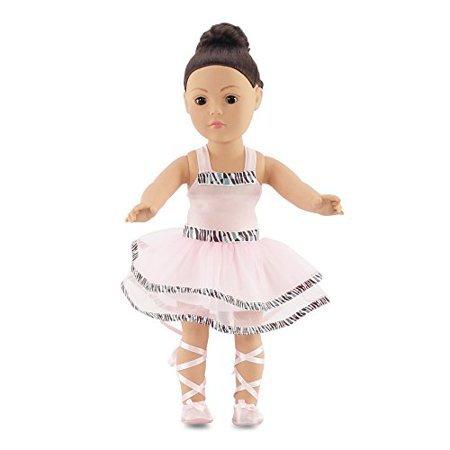 Fits American Girl Doll Ballet Ballerina Dance Outfit   18 Inch Doll Clothes Clothing Includes 18  Shoes